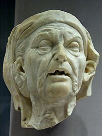 File:Old woman BM Head of an old woman, probably a nurse, from a free-standing statue or relief. Marble, Roman copy after a Hellenistic original of the or century BC. Hellenistic Art, Hellenistic Period, World History Facts, Art History, World History Classroom, Art Eras, Ancient Persia, Ancient Ruins, Ancient Greece