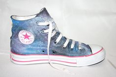 Hand-painted Galaxy High-top Converse Shoes made by me on sale at my etsy shop!