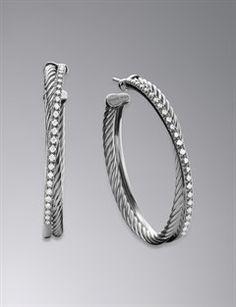 David Yurman Earrings | Pearl, Hoop & Infinity Simple- like.