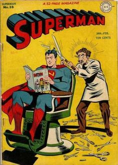 Superman 38 - A 52-page Magazine - Superman Publication - Ten Cents - Scissors - Comic - George Roussos