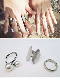 Today's Hot Pick :3-Piece Antique Silver And Pearl Ring Set http://fashionstylep.com/SFSELFAA0007955/yubsshopen/out Accessorize with exquisite antique accessories like these 3-piece silver ring set. The stunning design ranges from simple band to geometric shaped and an elegant twist pearl structure. Perfect accent to your vintage inspired look. -Accessory -3-piece ring set -Antique silver -Pearl