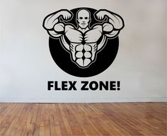 Fitness Gym Wall Decal FLEX ZONE Sticker Art Decor Bedroom Design Mural sports lifestyle work out home decor by StateOfTheWall on Etsy https://www.etsy.com/listing/219102762/fitness-gym-wall-decal-flex-zone-sticker