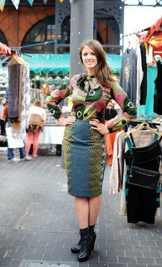 Fashion at the African market in Old Spitalfields, London