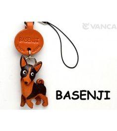 Basenji Leather Cellularphone Charm #46769