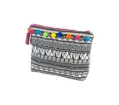 Listovka s etno vzorom a brmbolcami Bags, Handbags, Dime Bags, Lv Bags, Purses, Bag, Pocket