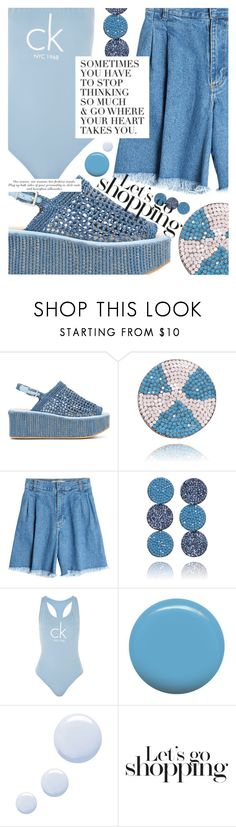 """""""Beach Day"""" by cultofsharon ❤ liked on Polyvore featuring Robert Clergerie, Ksenia Schnaider, Calvin Klein, Jin Soon and Topshop"""
