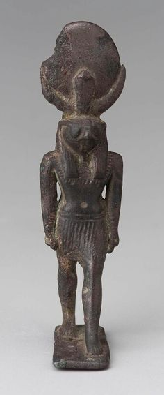 Bronze statuette of a striding Horus. Late Period–Hellenistic Period (Ptolemaic dynasty). 760–30 B.C. | Museum of Fine Arts, Boston