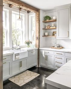 10 Unique and Fresh Small Kitchen Design Ideas Get inspired b. - 10 Unique and Fresh Small Kitchen Design Ideas Get inspired by these real-life small kitchen design ideas. You'll be motivated to remodel or redecorate your own kitchen with these ideas. Home Decor Kitchen, Home Kitchens, Rustic Kitchen, Kitchen Decorations, Kitchen Interior, Kitchen Sink, Decorating Kitchen, Kitchen Shelves, Kitchen Backsplash