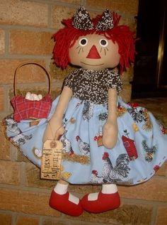 primitive raggedy dolls   Primitive Raggedy Anne Farm Doll   Flickr - Photo Sharing!