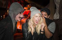 'Pretty Little Liars' Ashley Benson's scared face in this snapshot taken during Halloween Horror Nights at Universal Studios looked so believable that it could double as a poster for a horror flick.(Courtesy of NBC Universal)