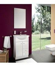 mobile bagno a terra con lavabo composizione bianco 2 ante 1 ... - Mobile Lavabo Bagno A Terra