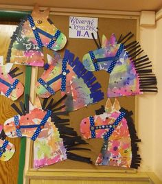 Horse craft idea for preschoolers After a fun day of spring party& horse theme crafts, this afternoon I set up one final craft for . Farm Animal Crafts, Farm Crafts, Vbs Crafts, Daycare Crafts, Camping Crafts, Toddler Crafts, Crafts For Kids, Arts And Crafts, Western Crafts Kids