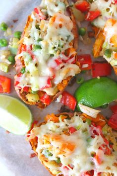 If you& looking for amazing, mouthwatering, comfort food that& also healthy these twice baked chicken sweet potatoes are your best bet! Baked Chicken Sweet Potato, Twice Baked Sweet Potatoes, Sweet Potato Recipes, Yummy Appetizers, Appetizer Recipes, Zucchini Noodles Spaghetti, Chicken And Vegetables, Veggies, How To Cook Chicken