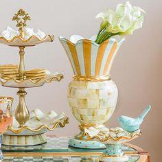 Parchment Check Great Vase