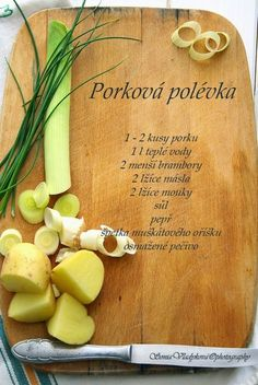 Czech Recipes, Rocky Road, Soups And Stews, Food Photo, Yummy Food, Baking, Czech Food, Soaps, Anna
