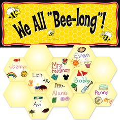 "We All ""Bee-Long"" Kit - anti bullying idea, back to school bulletin board. For those who LOVE bees!"