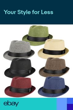 5af82cc2bba Trilby Hat with Satin Black Band