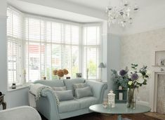 Elegant Duck Egg Blue Living Room