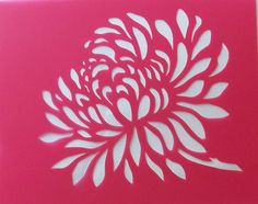 Flower stencil