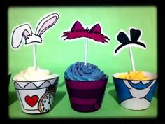 Cupcake Ideas - Alice in Wonderland Cupcake Wrappers