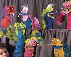 Leisure Arts - Dinosaur Sock Puppets Craft Patterns ePattern, $4.99 (http://www.leisurearts.com/products/dinosaur-sock-puppets-craft-patterns-digital-download.html)