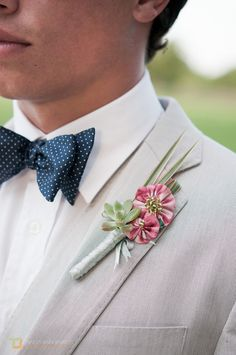 YoYo Boutonniere Made To Order. $32.00, via Etsy.