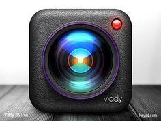 Viddy iOS icon by David Im 2013-03 via dribbble 991112