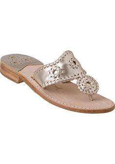 7011e083c634 Jack Rogers Hamptons Thong Sandal Platinum Leather - Jildor Shoes
