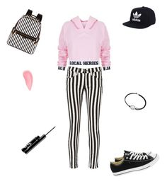 """""""helemaal mooi😂"""" by lois02 ❤ liked on Polyvore featuring Local Heroes, rag & bone/JEAN, Converse, Henri Bendel, adidas, Alex and Ani and Kevyn Aucoin"""