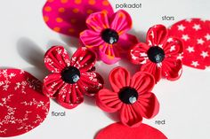 Poppy Brooches with £1 donation to the Poppy Appeal by jenmick on etsy - £4 each!