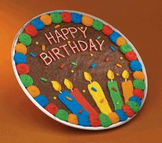 Brownie Happy Birthday Cookie Cake