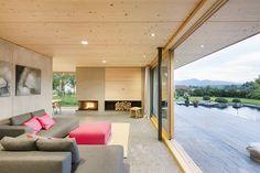Modern Home Architecture Design, Interior Design Ideas Style At Home, Modern Interior Design, Interior Architecture, Tiny House Cabin, Home And Living, Living Room Designs, Interior Decorating, New Homes, House Design