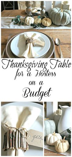 Thanksgiving Table for a Hostess on a Budget