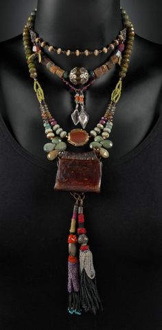 Artist Statement I have always collected beads and stones. I feel a connection to the people that had the beads before me. Growing up in the country set my aesthetic and color values. I work in earth tones. I am passionate about my color combinations striving to find something unexpected but has harmony for the …