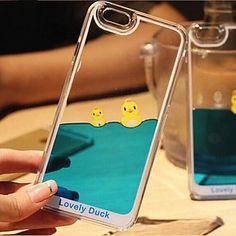 drôle liquide fluide coulant design cristal de canard jaune clair dur couvercle du boîtier en plastique pour iPhone 5 / 5s de 2016 à €6.85