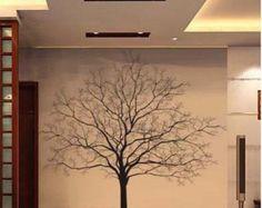 150x150CM bella grande albero natura Vinyl Wall di lovebabysticker