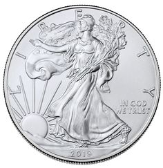 with Light Spotting 1996 1 oz American Silver Eagle Coin BU