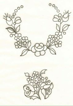 "Hungarian Embroidery Képtalálat a következőre: ""bauernmalerei çizimleri"" Hungarian Embroidery, Folk Embroidery, Hand Embroidery Patterns, Vintage Embroidery, Learn Embroidery, Ribbon Embroidery, Floral Embroidery, Cross Stitch Embroidery, Machine Embroidery"