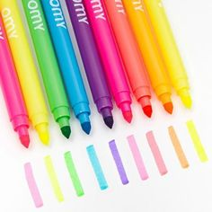 Neon Double Tipped Felt Pens, Set of 9 by OMY Design & Play