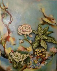 Květy, olej na plátně 40x50 cm.