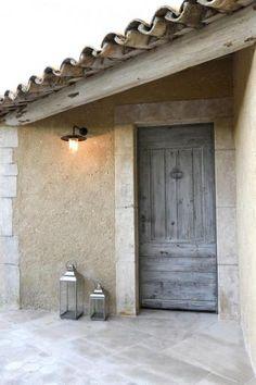 Portes d'entree : Portes Antiques Grey Front Doors, Oak Front Door, House Front Door, Oak Doors, Iron Doors, Entrance Doors, Patina Paint, Door Knockers, Garden Gates