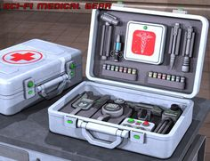 Sci Fi Medical Gear | Environments and Props for Daz Studio and Poser