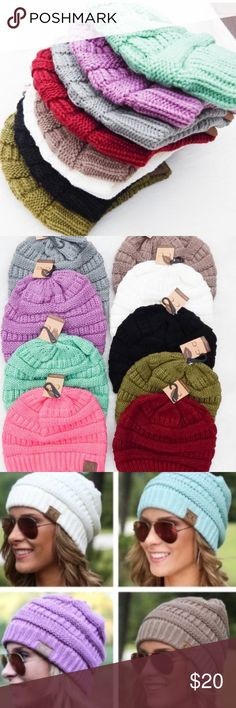 Acrylic Winter Hats Stay warm this winter with these extremely soft and cozy 100% acrylic beanie hats! Trendy and stylish!  No Trades. Price Firm  ↓Follow me on Instagram ↓         @ love.jen.marie Accessories Hats