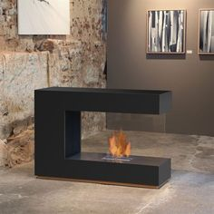 Bioethanol fireplace / contemporary / open hearth / built-in - LOFT C-02 - muenkel design