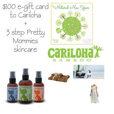 Enter for a chance to win $100 e-gift card to Cariloha & a set of Pretty Mommies skincare products.  $219 value.  Open to US and Canada.