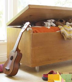 Toy box or coffee table with blanket storage?