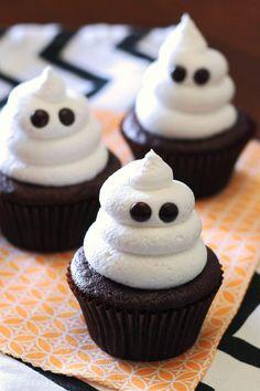 Sarah Bakes Gluten Free Treats: gluten free vegan ghost cupcakes