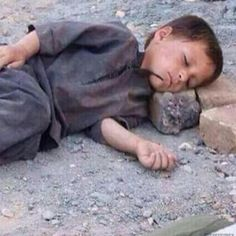 No pillow for this boy #war #inspiration #deep #syria