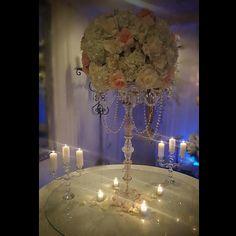 www.flowersbybrian.com Pink Centerpieces, Chandelier, Ceiling Lights, Home Decor, Candelabra, Decoration Home, Room Decor, Chandeliers, Outdoor Ceiling Lights