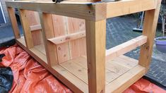 Big Green Egg Table, Bbq Table, Build Outdoor Kitchen, Bbq Kitchen, Wood Bars, Diy And Crafts, Diys, Building, House